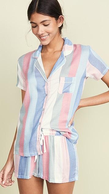 Splendid Shorts Shortie Pajama Set