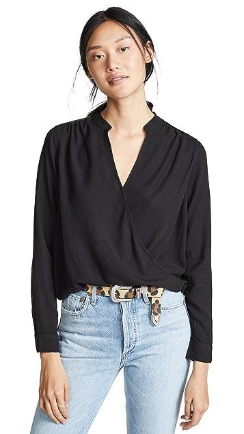 Splendid Блуза с запахом Sienne