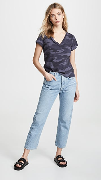 Splendid Camo Kate V Neck T-Shirt