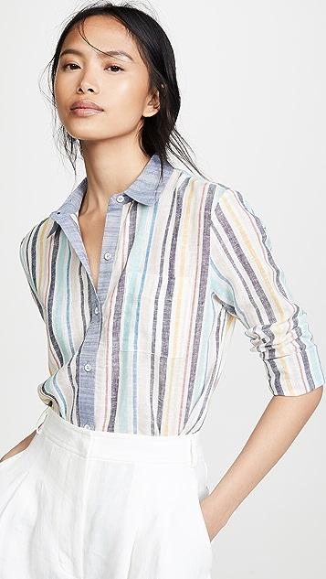 Splendid x Gray Malin Button Down Shirt - Playa Stripe