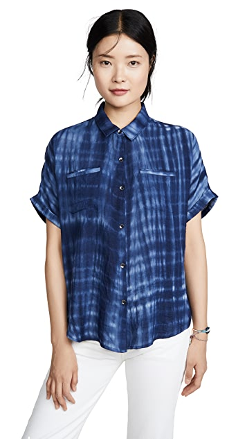 Splendid Backyard Tie Dye Button Down