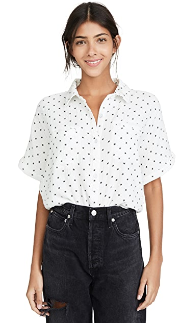 Splendid Backyard Star Print Button Down