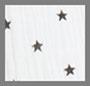 White/Black Star Print