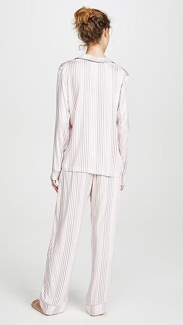 Splendid Мягкая очаровательная пижама с лацканами