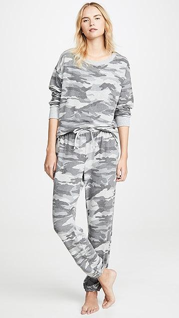 Splendid Камуфляжная пижама с длинными рукавами
