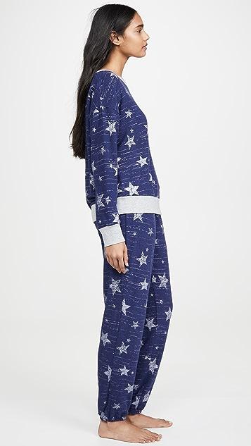 Splendid 星星图案长袖睡衣套装