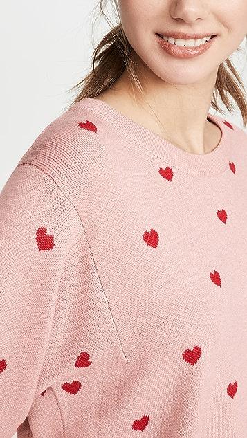 Splendid Jolie Heart Sweater