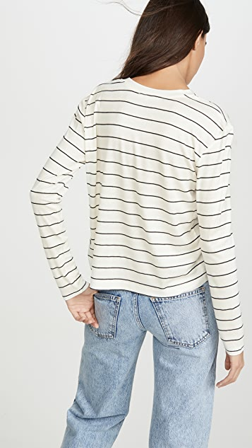Splendid Long Sleeve Striped Henley