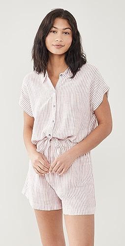 Splendid - Pueblo 条纹短款连身衣