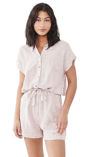 Splendid Pueblo 条纹短款连身衣
