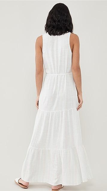 Splendid Fresco 条纹长连衣裙