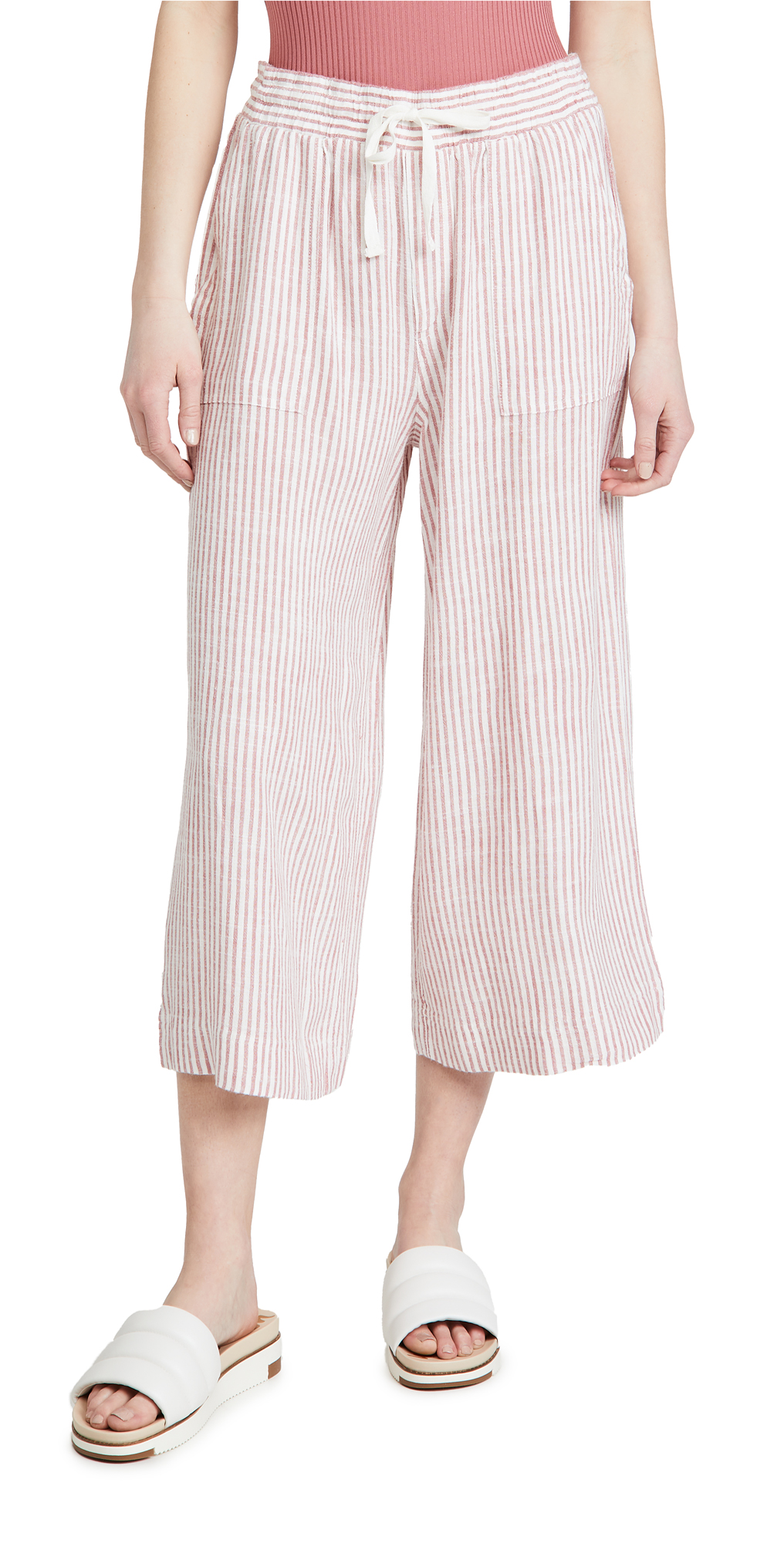 Splendid Pueblo Stripe Cropped Pants