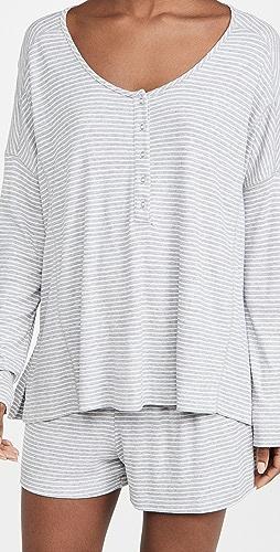 Splendid - Henley Shorty Pajama Set