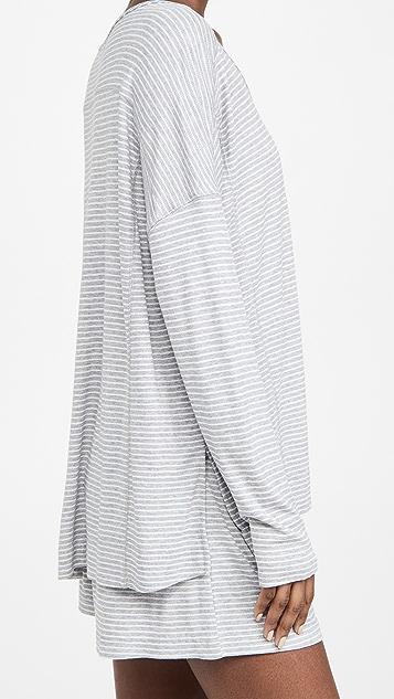 Splendid Henley Shorty Pajama Set