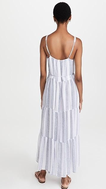 Splendid Baja Stripe Maxi Dress