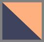靛蓝/橙色多色