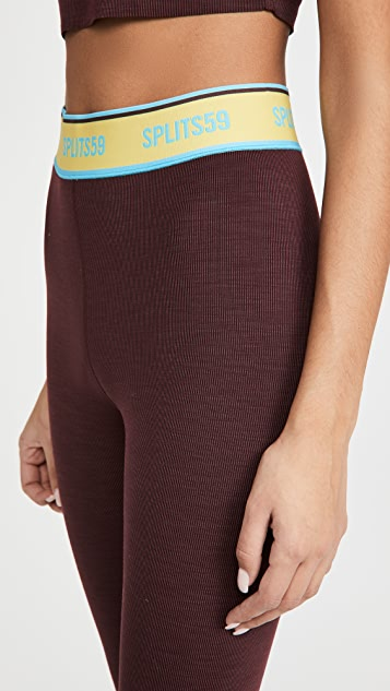 Splits59 Bailey Active 罗纹贴腿裤