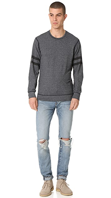 Splendid Mills Graphic Crew Neck Sweatshirt