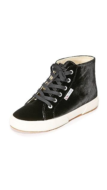 Superga 2095 Velvet High Top Sneakers