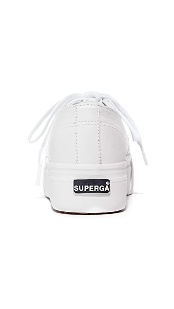 Superga 2790 Platform Leather Sneakers