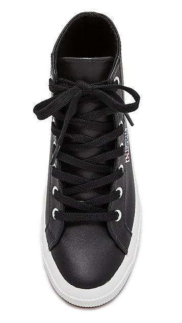 Superga 2795 Leather Hi Top Sneakers