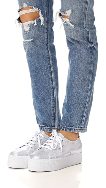 Superga 2790 Platform Lame Sneakers
