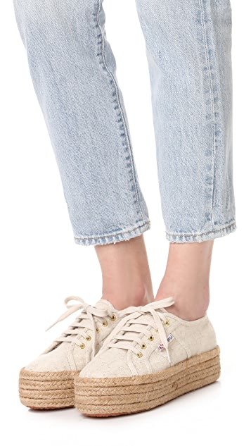 Superga 2790 Espadrille Flatform Sneakers In