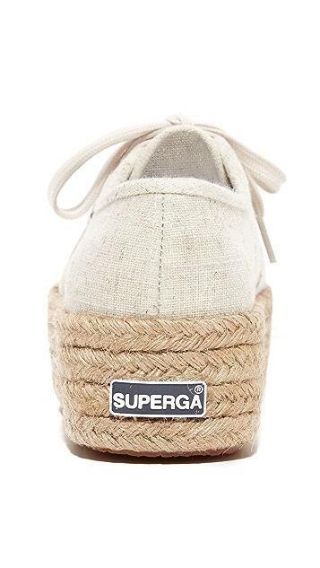 Superga 2790 Linen Platform Espadrille Sneakers