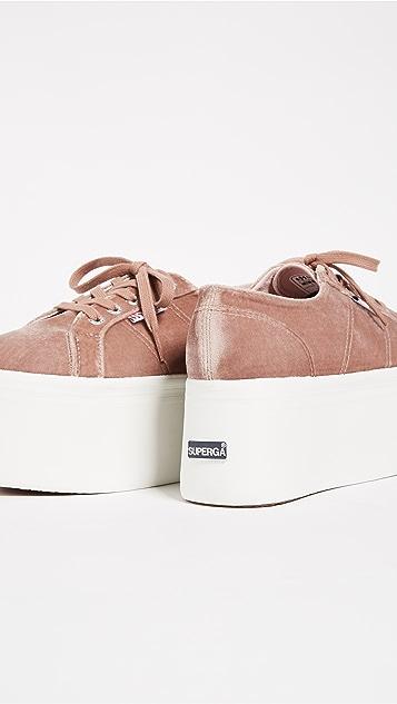 Superga 2802 Velvet Super Platform Sneakers