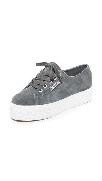 Superga 2790 Suede Platform Sneakers - Grey