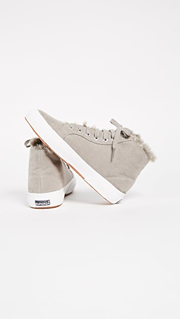 Superga 2795 Sherpa Lined High Top Sneakers