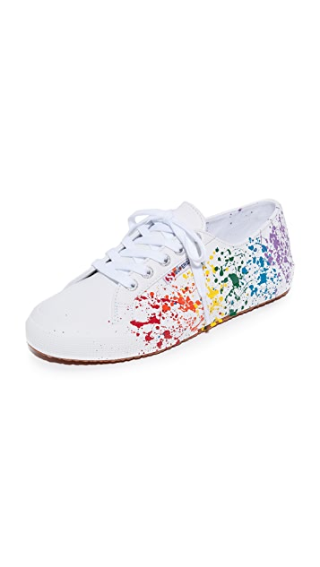 Superga 2750 Leather Splatter Paint Sneakers