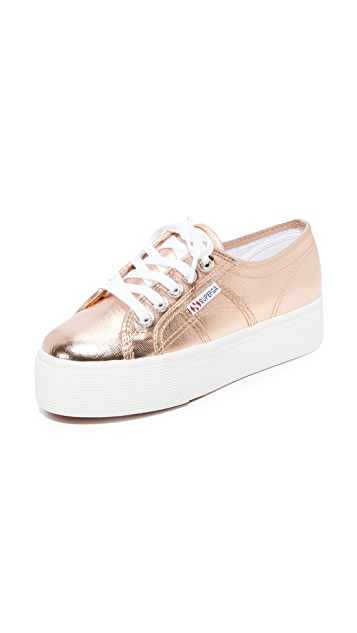 Superga 2750 Cotu Metallic Platform Sneakers