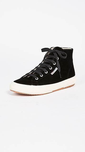 Superga 2795 Velvet High Top Sneakers ...