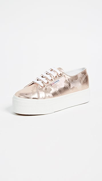 Superga 2790 Army Chrome Platform Sneakers