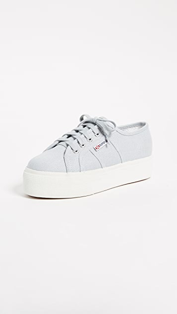 Superga 2790 Linen Platform Sneakers