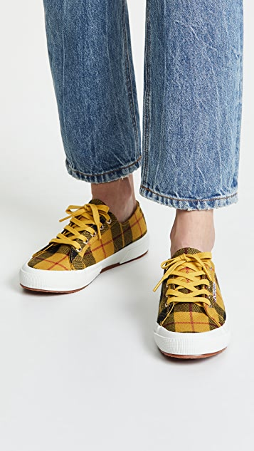9fbe41cde33f ... Superga 2750 Tartan Lace Up Sneakers ...