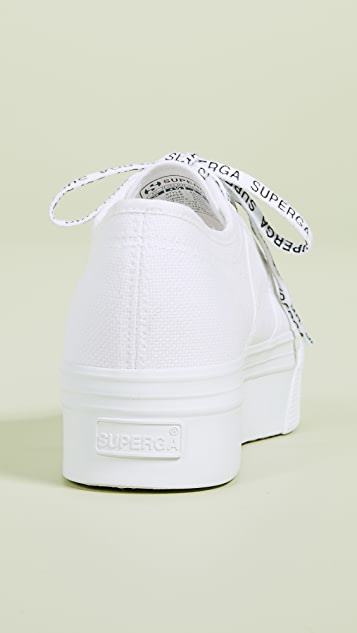Superga White Out Package Platform Sneakers