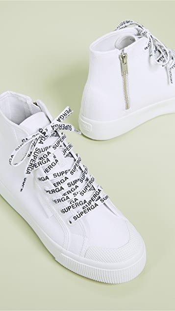 Superga White Out Package High Top Sneakers