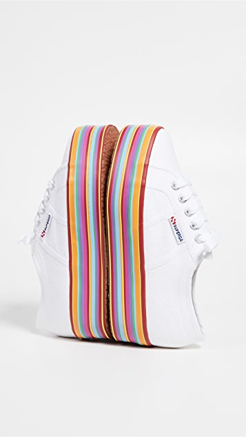 Superga Multicolored Platform Sneakers