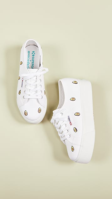 Superga 2750 Avocado Cotw Platform Sneakers