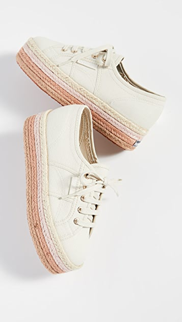 Superga Разноцветные кроссовки на платформе 2790