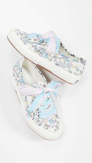 Superga x LoveShackFancy 2750 Barefoot Floral Sneakers