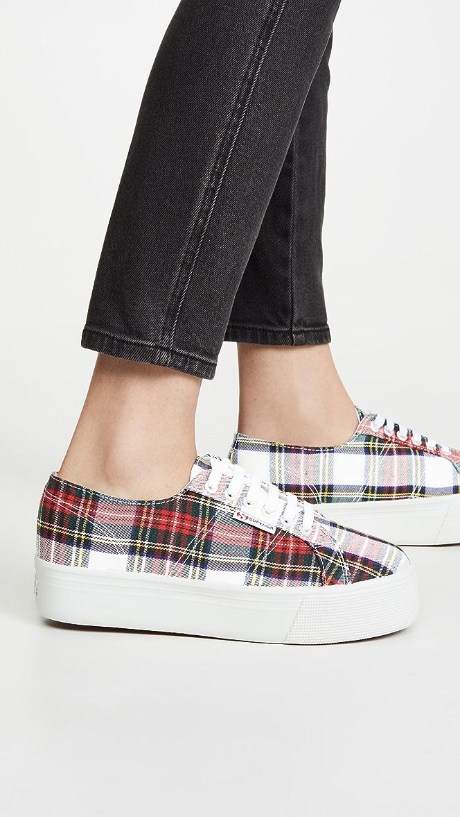 Superga 2790 Tartan Platform Sneakers