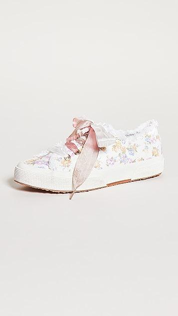 Superga x LoveShackFancy 2750 花朵流苏运动鞋