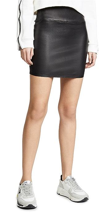 SPRWMN Leather Miniskirt - Black