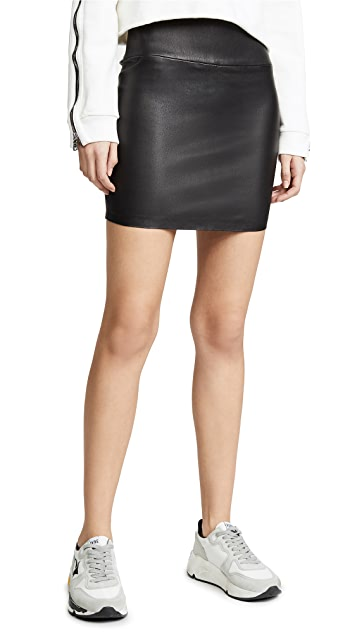 SPRWMN Leather Miniskirt