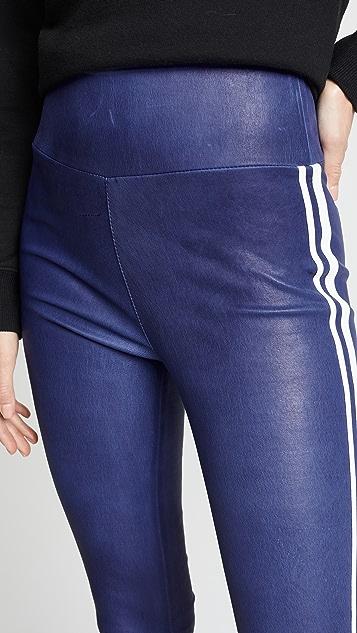 SPRWMN Athletic Leather Leggings