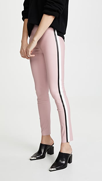 Bi Color Stripe Leggings by Sprwmn
