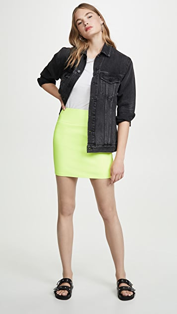 SPRWMN Leather mini skirt